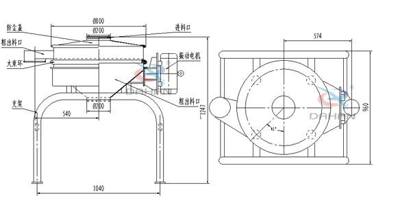单电机直排筛结构图